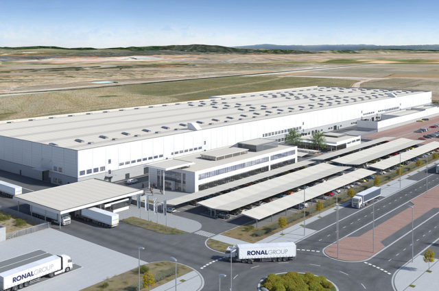 Spanien Teruel, new construction production facility