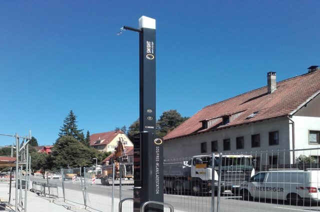 Ebhausen, E-charging pillar for EnBW